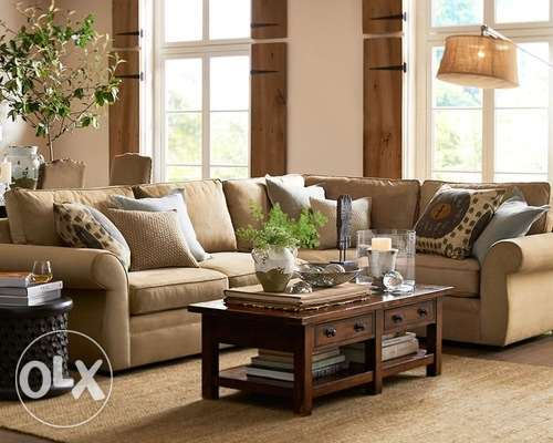 Pottery Barn 3 Piece Sectional Sofa with Wedge + 1 arm chair + Ottoman