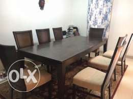 Dining table set and carpet