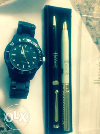 Pen set plus watch all brand harods from london