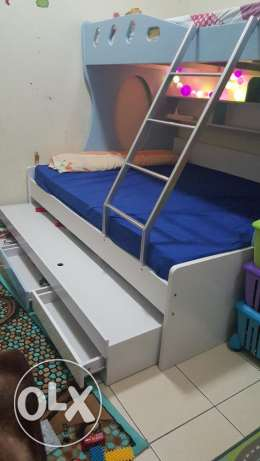 Kids Bed 3 levels 150x200 + 2 medical mattresses