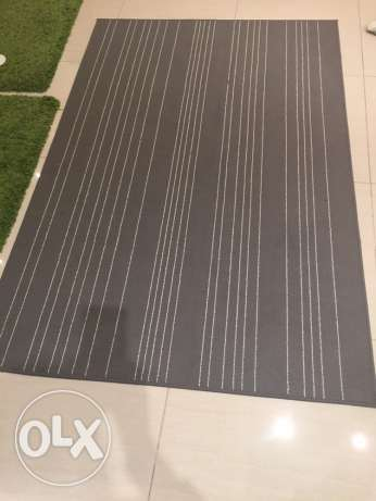 rug grey with white striped on