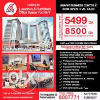 8500 QR Offices for Rent in AL SADD. Luxurious and Fully Furnished
