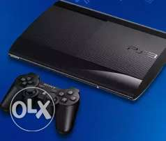 ps3 super-slim 500GB with 5 CDS