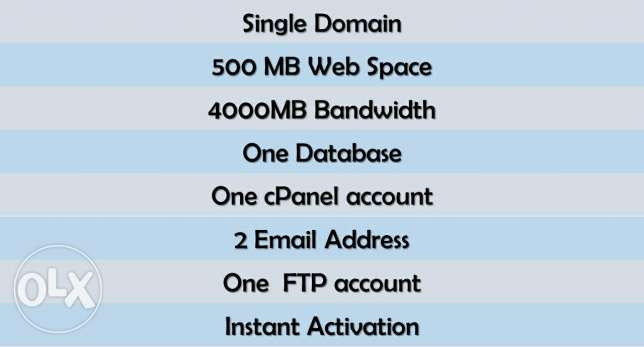 Web Hosting Only QR.5 per month