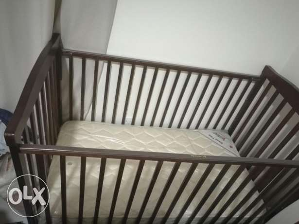 Baby bed with matress