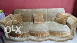 Golden color sofa and dinning table for sale