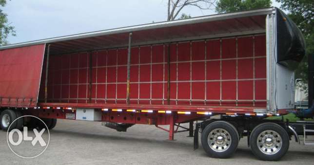 brand new curtain sider trailers 2 axle for sale