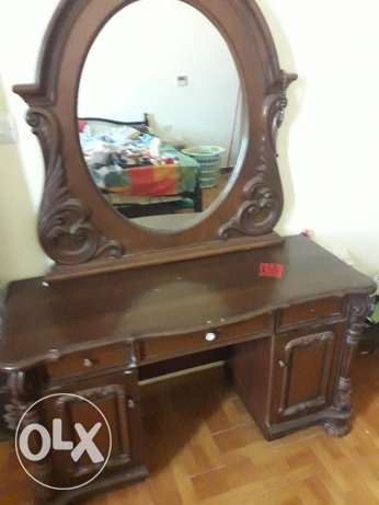 vanity and bed side table