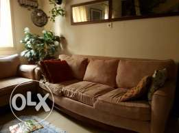 Sofa + Cup Board Immediate sale