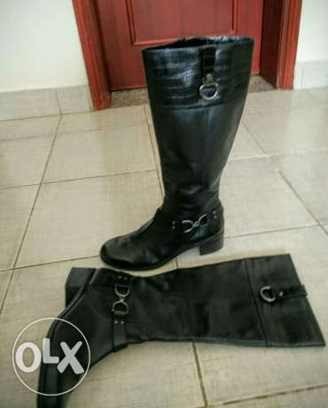 Leather ladies boot