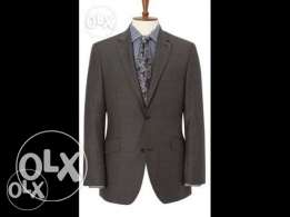 "British designer ""Austin Reed"" Men's Brown Sharkskin Suit"
