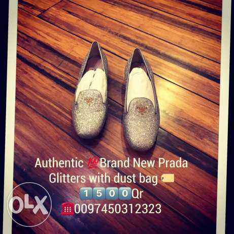 authentic brand new prada glitters