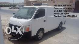 Nissan Urvan Freezer Rent