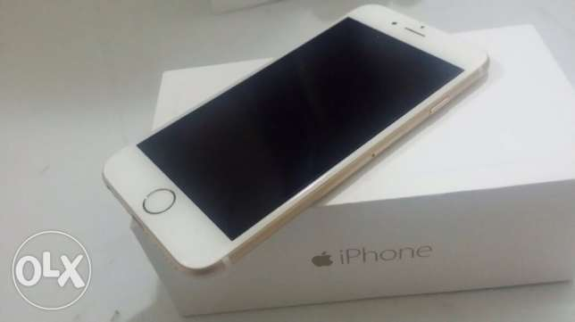 I phone 6 Gold w: Little line down of the phone for Only 1350QR
