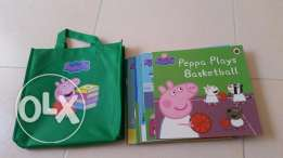 NEW Peppa Pig Collection. 10 Books in Peppa Pig Bag. 180QAR