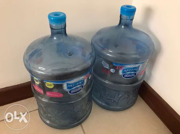 2 Nestle Pure Life 5 Gallon Empty water bottles