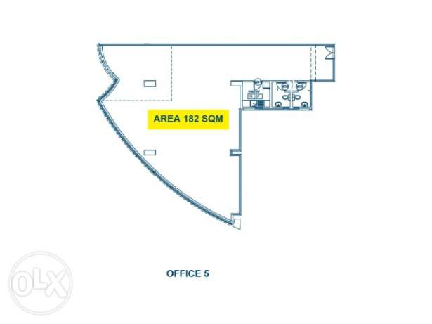 182 sqm office space for rent in Najma نجمة -  1