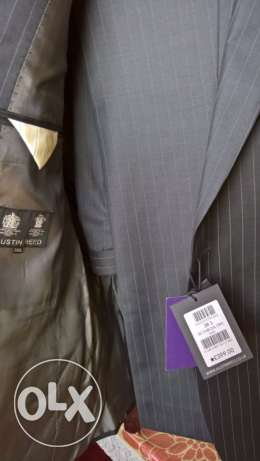 Austin Reed-UK Charcoal Stripe Suit - Original Price UK Pounds 399