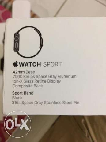 Apple watch- 42mm 316L Space Gray stainless pin