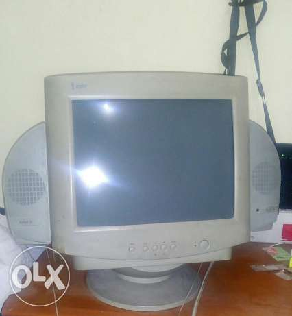 Computer Monitor and keyboard with computer table for SALE