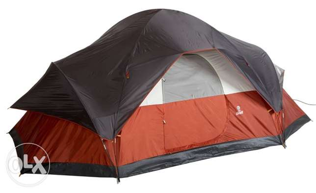 Coleman 8-Person Red Canyon Tent + Coleman Airbed Queen Cot
