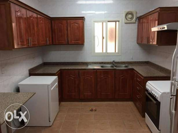 very nice 3 bedroom semi furnished apartment in AL SADD with one monf