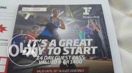 2 fitness first Gym vouchers(city center mall) each is 14 days