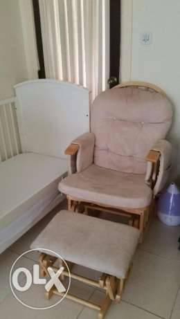 Baby Rocking chair with stool