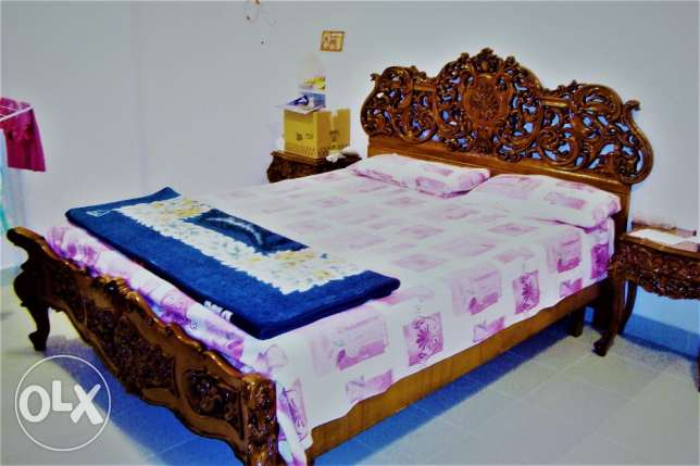 Pure wooden bed room set