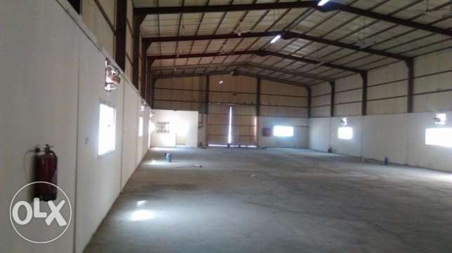 1000 sqmr STORE, 1200 sqmr OPEN LAND & 7 ROOM for rent