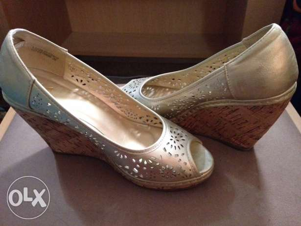 Used Golden Shoes size 36 for Sale for Only 50QR