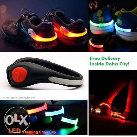 LED Night Walk rechargeable Shoe Clips