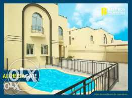 Unfurnished 6-Masterrooms Villa in AL Kheesa/Pool+1-FREE MONTH