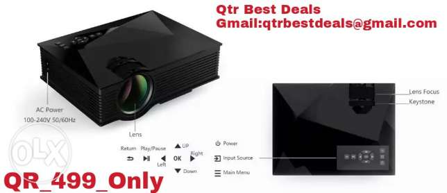 LED projector..With Wifi QR 499 ONLY