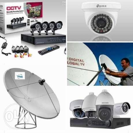 all kinds of satellite dish & cctv camera fixing