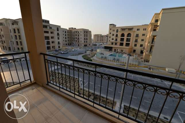semi-furnished studio with nice balcony in Lusail for rent