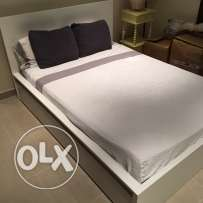 IKEA Malm White Bed