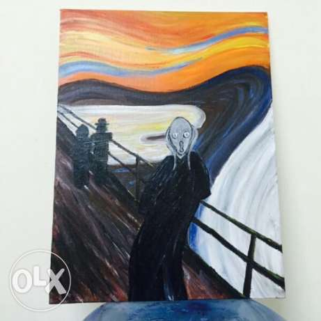 "Recreation of the famous painting ""The Scream"" for sale"