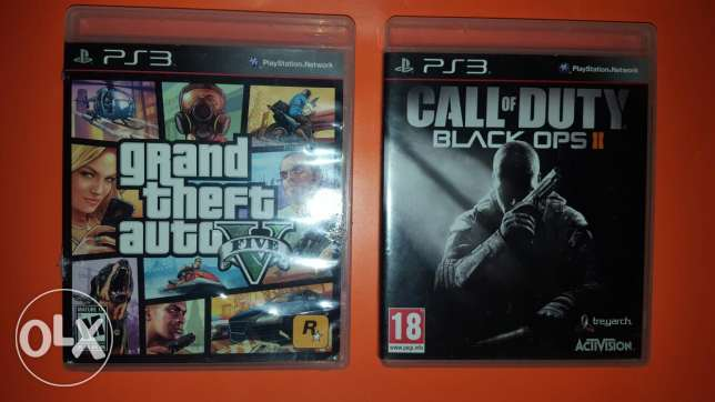 Ps3 game gta 5 and call of duty black ops