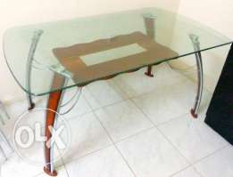 Dining Table with 4 chairs (without upholstery),tempered glass...