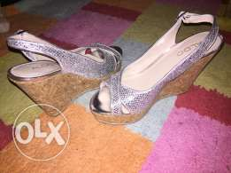 wedge silver shoes from Aldo size 36 used for Only 90QR