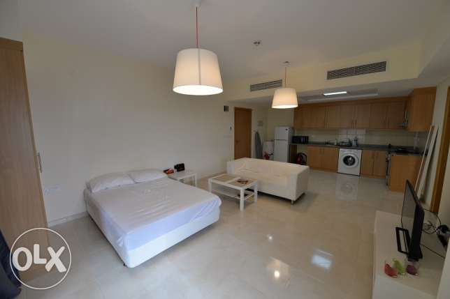 Fabulous Studio with balconies for rent in Lusail