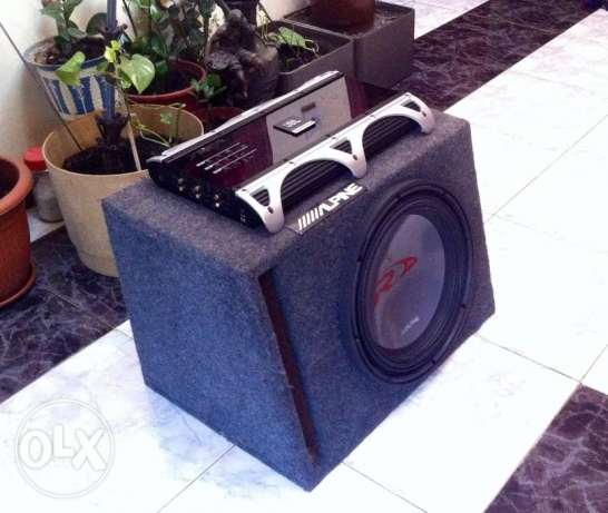 Alpine Type R Subwoofer + 6 Channel JBL Amplifier