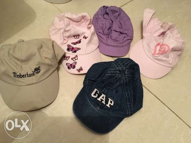 Various designer hats