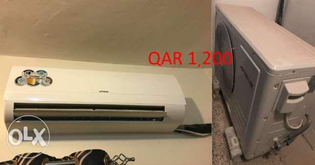 Aftron split AC 1.5 tons, 4 years compressor warranty included