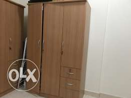 Three doors with drawer two cabinets