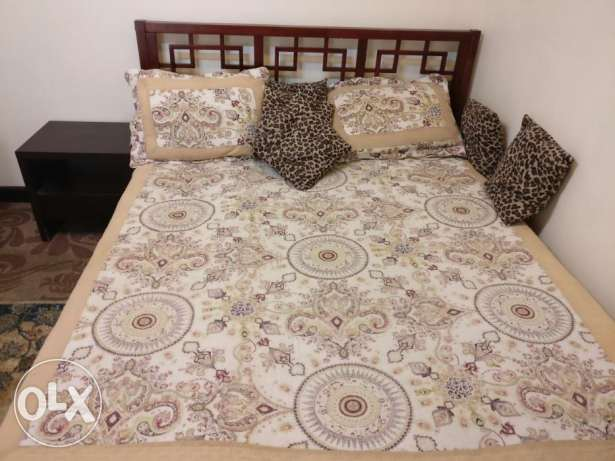 Pure wooden bed set from home centre