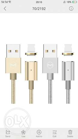 كابل مغناطيس magnetic cable for iphone and samsung للايفون والسامسونج