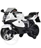 Officially Licensed White BMW K1300S Rechargeable 6V Battery Powered