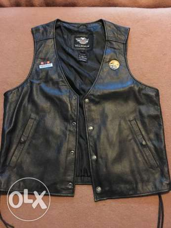 Large Harley Davidson Short Sleeve Leather Jacket الدوحة الجديدة -  2
